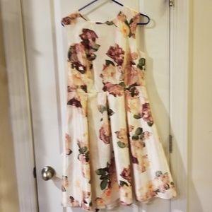 Liz claborne floral dress coctail dress